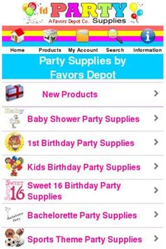 Party Supplies Shop poster