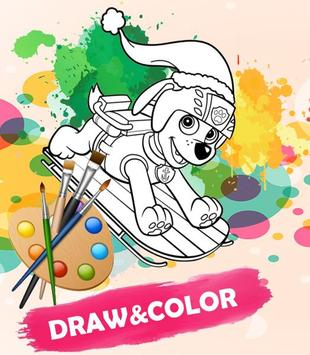 Coloring for Paw Patrol Game poster