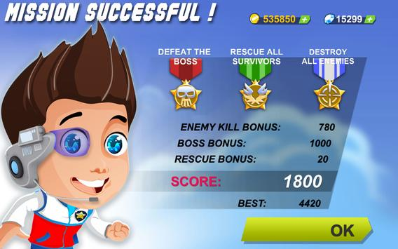 Paw Helicopter War Patrol apk screenshot