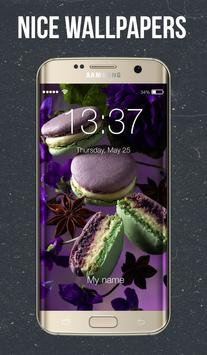 Dark Macarons Lock Screen poster