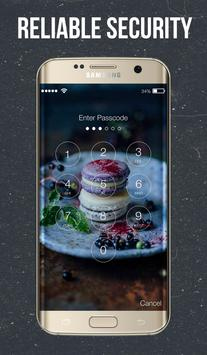 Dark Macarons Lock Screen screenshot 1