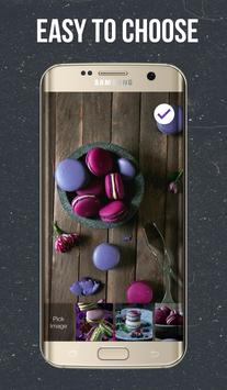 Dark Macarons Lock Screen screenshot 2
