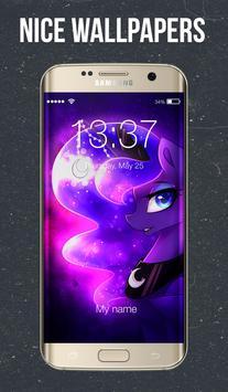 Moon Night Pony Screen Lock poster