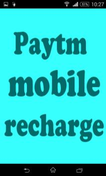 Paytm wallet recharge(money) poster