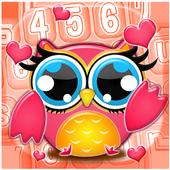Buhos Bonitos Emoji Teclado icono