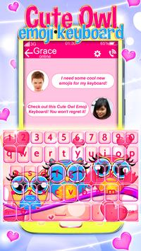 Buhos Bonitos Emoji Teclado captura de pantalla 3