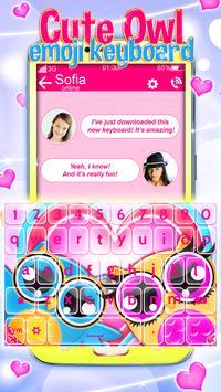 Buhos Bonitos Emoji Teclado captura de pantalla 1