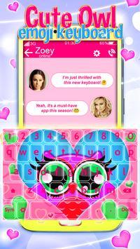 Buhos Bonitos Emoji Teclado captura de pantalla 2