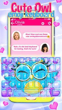Buhos Bonitos Emoji Teclado captura de pantalla 4