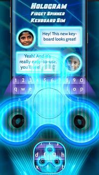 Hologram Fidget Spinner Keyboard Sim poster
