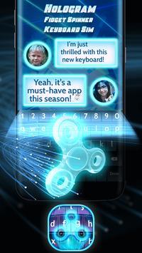 Hologram Fidget Spinner Keyboard Sim apk screenshot