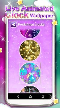 Live Animated Clock Wallpaper apk screenshot