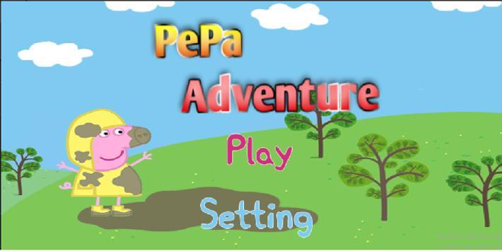 Pepa pig adventure jump poster