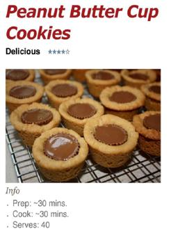 Peanut Butter Cup Cookies poster