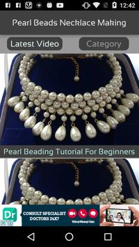 Pearl Beads Necklace Making screenshot 1