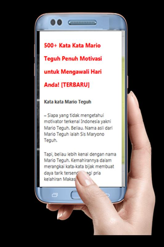Kata Bijak Mario Teguh 2018 Fur Android Apk Herunterladen