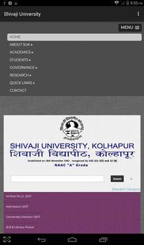 Shivaji University poster