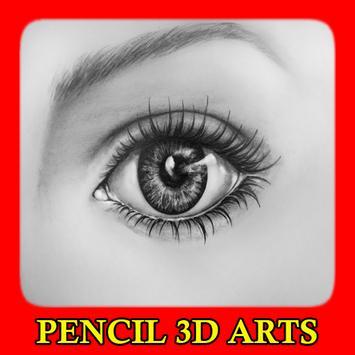 Pencil 3D Arts poster