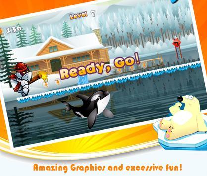 Arctic penguins running games apk screenshot