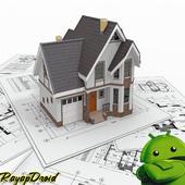Best home design planning sketch icon