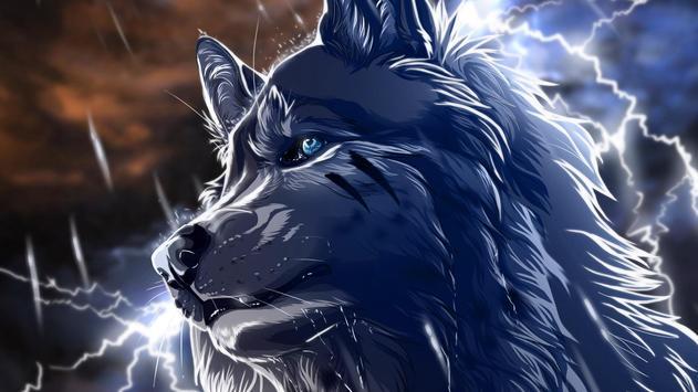 Wolf Anime Live Wallpaper apk screenshot