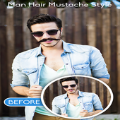 Man Hair Mustache Style Editor 2018 icon