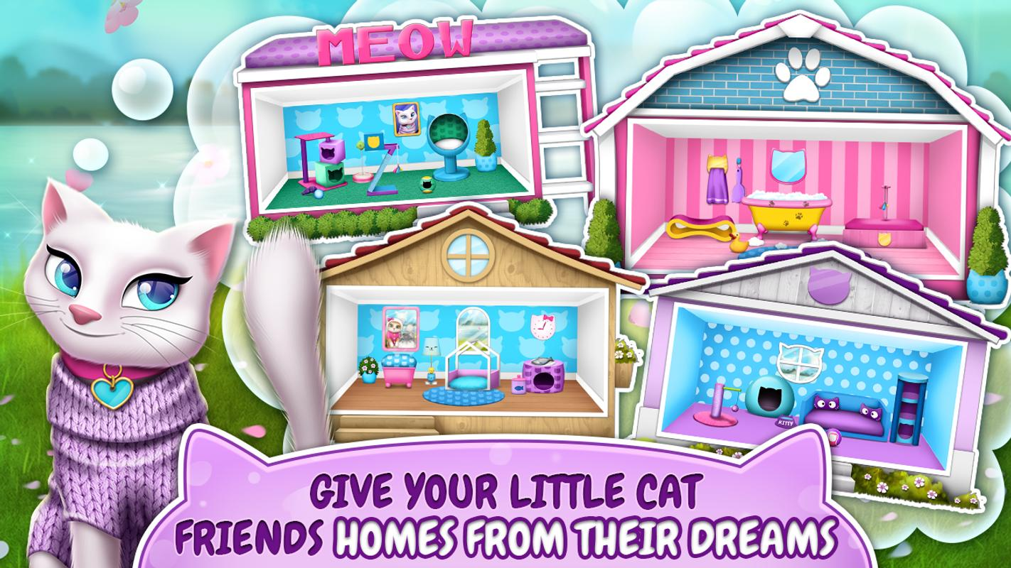 pet cat house decoration games poster - House Decorating Games