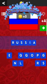WorldCup 2018 Team Flag Quiz screenshot 1