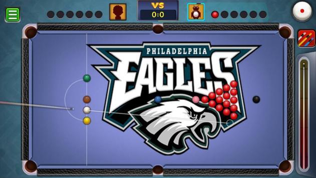 Billiards Philadelphia Eagles Theme screenshot 3