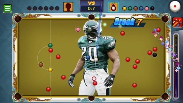 Billiards Philadelphia Eagles Theme screenshot 1