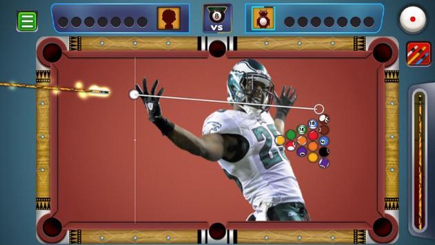 Billiards Philadelphia Eagles Theme screenshot 4