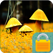 Mushrooms Field  PIN Lock icon