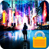 Neon City App Lock icon