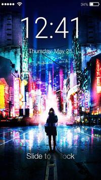 Neon City App Lock poster