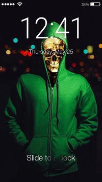 Death Skeleton Lock Screen poster