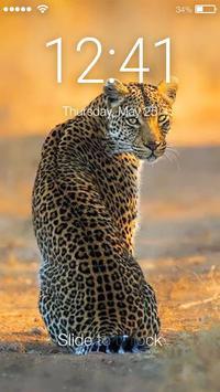 Leopard Cat Lock Screen poster