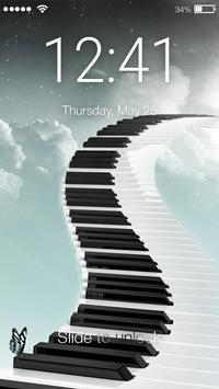 Piano PIN Lock poster