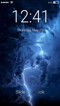 Storm Element Lock Screen poster
