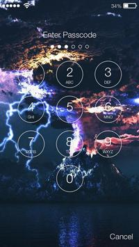 Storm Element Lock Screen screenshot 1