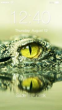 Crocodile Alligator Caiman  PIN Lock poster