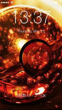 Nice Pokeball Art Wallpaper HD Smart Lock Screen poster