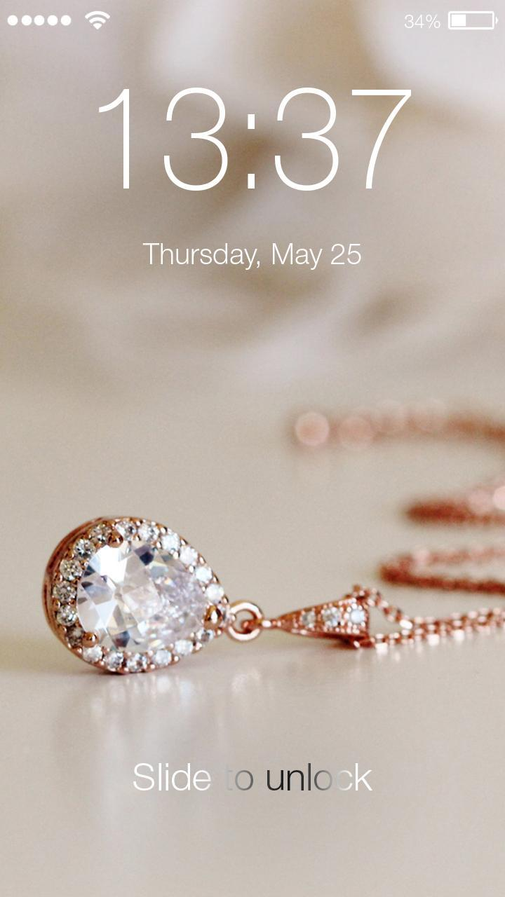 Rose Gold Diamond Wallpapers Hd Smart Lock Screen For Android Apk