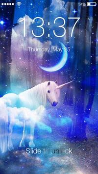 Magic Mysterious Unicorn Flying Horse Smart Lock poster