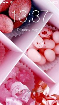 Pink Makaron Sweet Candy Valentine PIN Smart Lock poster