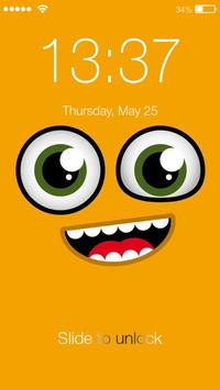 Smiley Funny Emoji Yellow Emotions HD Smart Lock poster