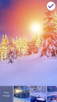 Winter Village Snow Frost Sunset Smart Screen Lock poster