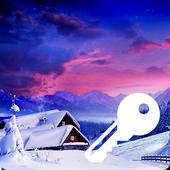 Winter Village Snow Frost Wallpaper Smart PIN Lock icon