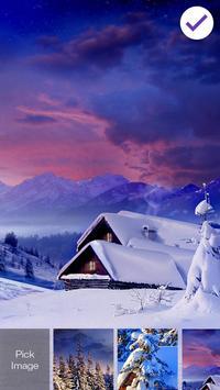 Winter Village Snow Frost Wallpaper Smart PIN Lock poster