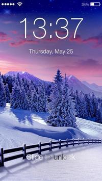 Winter Village Snow Frost Wallpaper Smart PIN Lock apk screenshot