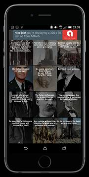 War Quotes poster